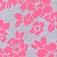 Szary melanż +różowy